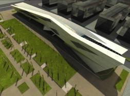 ABC  Sobre estas líneas, una imagen del proyecto de la futura biblioteca de la Universidad del Prado