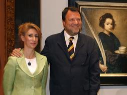 La delegada municipal de Cultura, Isabel Montaño, junto al alcalde, Alfredo Sánchez Monteseirín. NIEVES SANZ