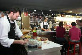ROCÍO RUZ  El queso curado con mermelada de pimientos asados es una de sus especialidades