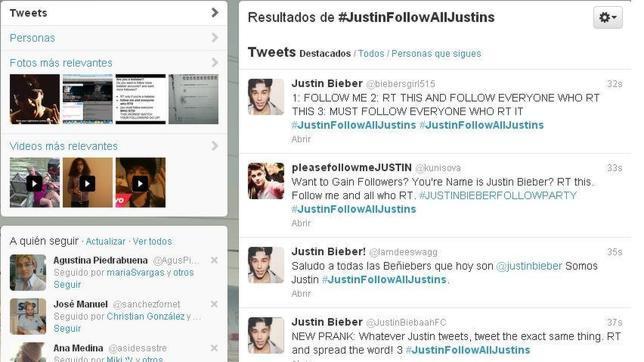 Justin Bieber se cuela en miles de avatares de Twitter