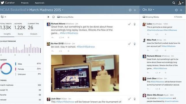 Twitter presenta Curator, una herramienta enfocada a los medios de comunicación