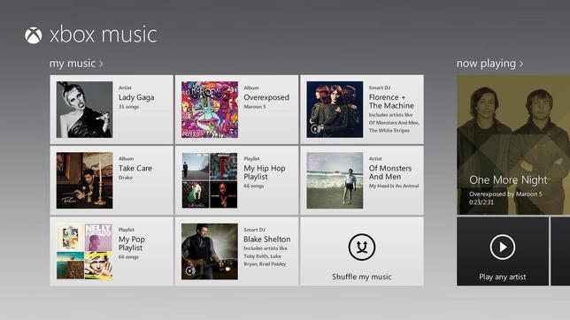 Xbox Music, el «Spotify de Microsoft», llega a navegadores web