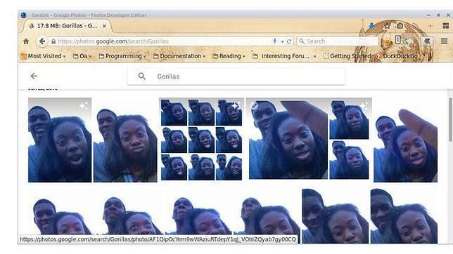 El error racista de Google Photos: confundir a dos negros con dos gorilas