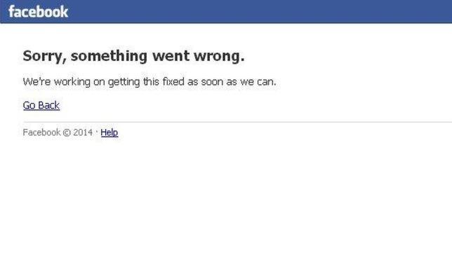 Falla el servicio de conexión a Facebook