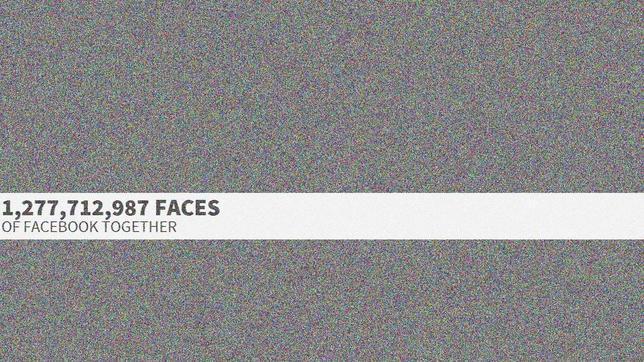 Las caras de Facebook: 1.300 millones de fotos de perfil juntas en una página