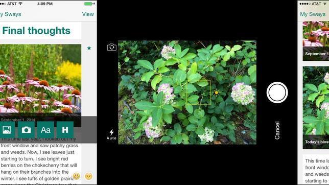 Microsoft presenta Sway, una app para crear páginas web de forma sencilla