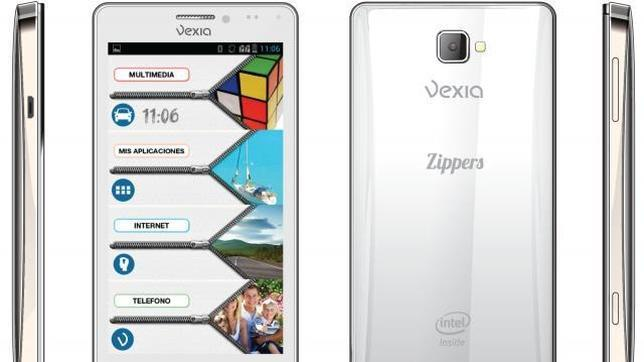 Vexia lanza su Smartphone Zippers Phone Dual SIM