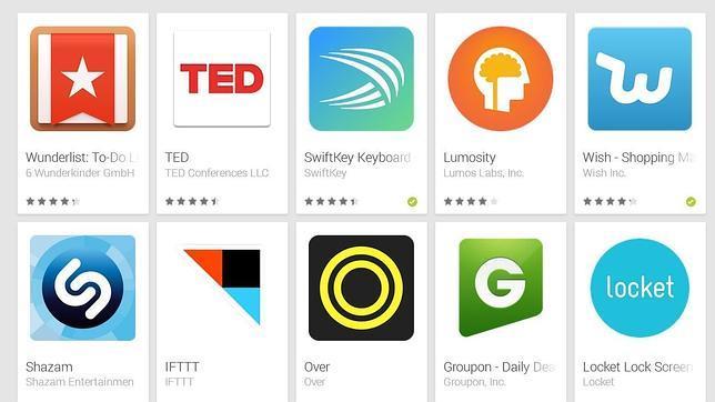 Las mejores «apps» para Android de 2014 (según Google)