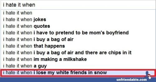 Las sugerencias extrañas de Google