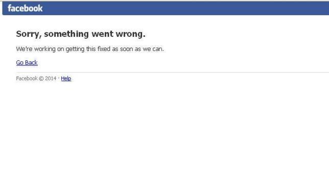 Facebook presenta fallos en su servicio durante media hora