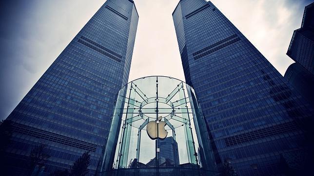 Apple patenta el vestíbulo de cristal de su tienda de Shanghái