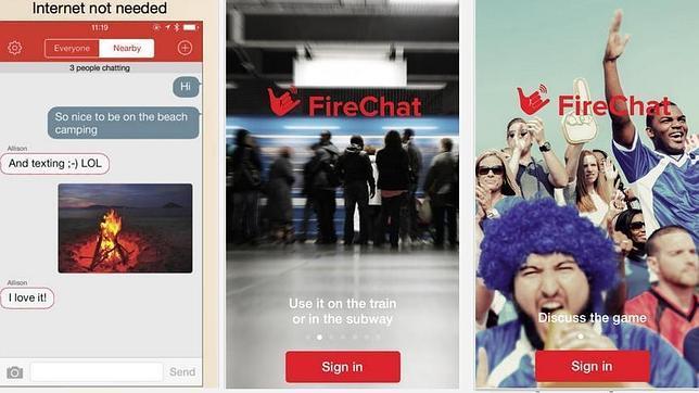 FireChat, una aplicación de chat que no usa redes o conexión a internet