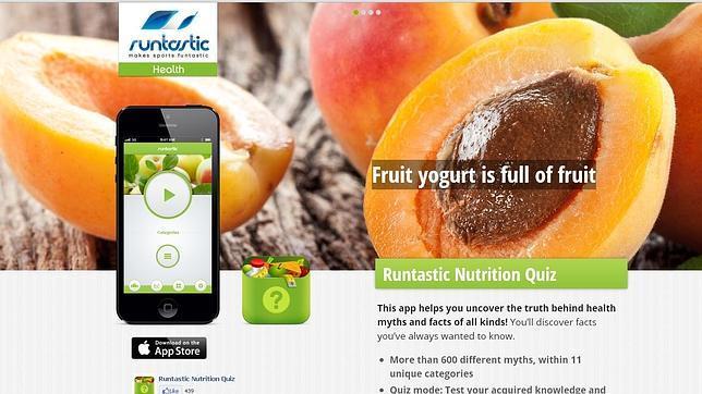 «Runtastic Test de Nutrición», la aplicación que te enseña a comer bien