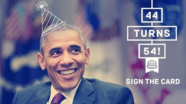 Obama recurre al humor en Twitter para celebrar con sus seguidores su 54 cumpleaños