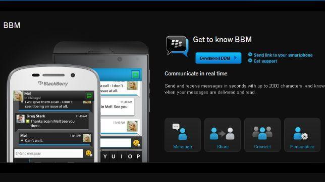 Blackberry Messenger, el servicio de mensajería instantánea que planta cara a WhatsApp