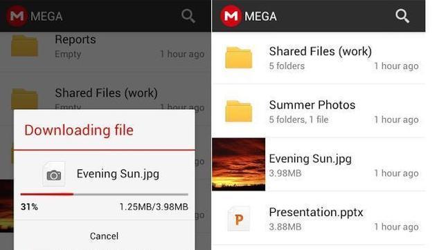 Mega lanza su aplicación para Android