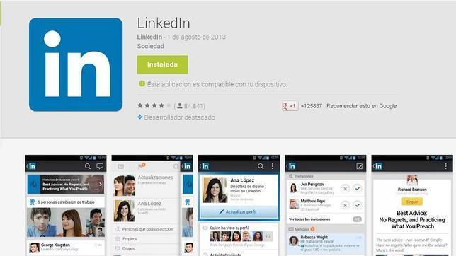 LinkedIn permite solicitar empleo desde su «app» móvil