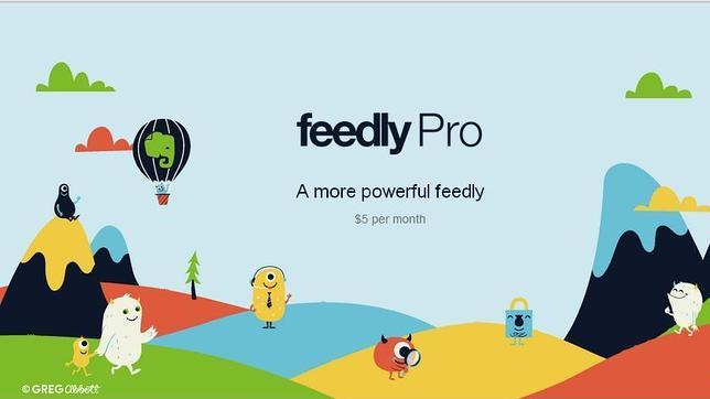 Feedly presenta una versión de pago por 5 dólares al mes