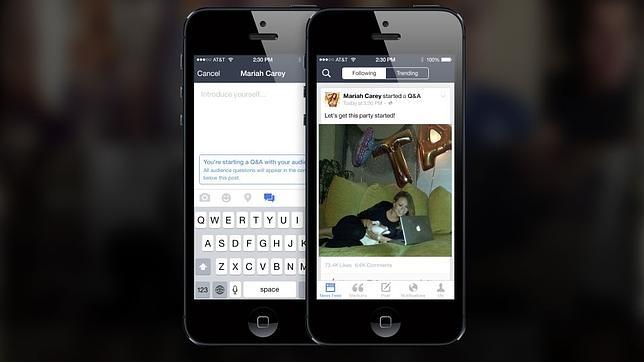 Vídeo en directo: la nueva herramienta de Facebook para conectar a figuras públicas y fans