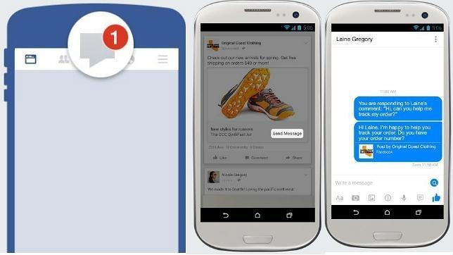 Facebook permite que usuarios y empresas se manden mensajes privados