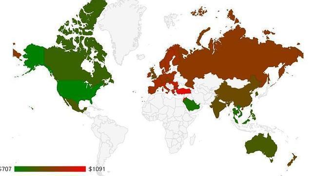 Jordania, el país con el iPhone 5S más costoso