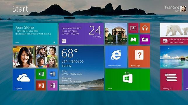 Windows 8.1 estará disponible para los fabricantes en Agosto
