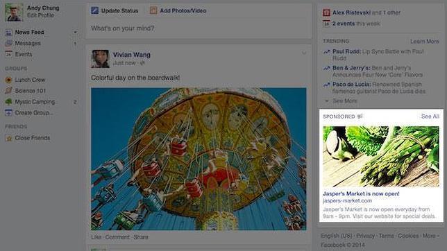 Facebook estrena anuncios mucho más grandes
