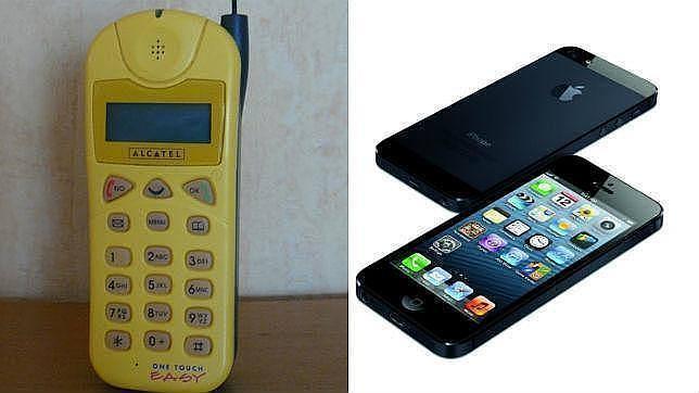 Desde el primer «ladrillo» al iPhone 6: Así han cambiado los móviles