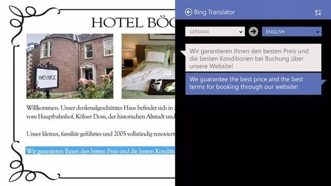 Bing Translator llega a Windows 8