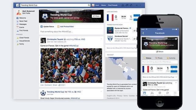 Facebook y Twitter se enfocan en el Mundial Brasil 2014