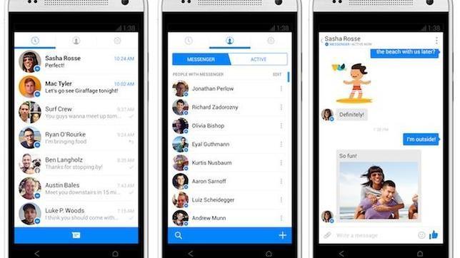 Facebook Messenger rompe la barrera de las mil millones de descargas en Android