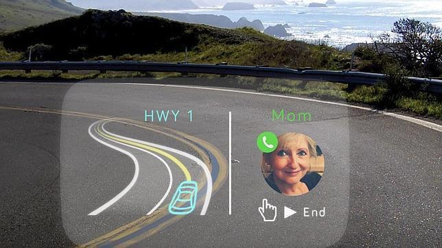 El parabrisas, como «Google Glass»