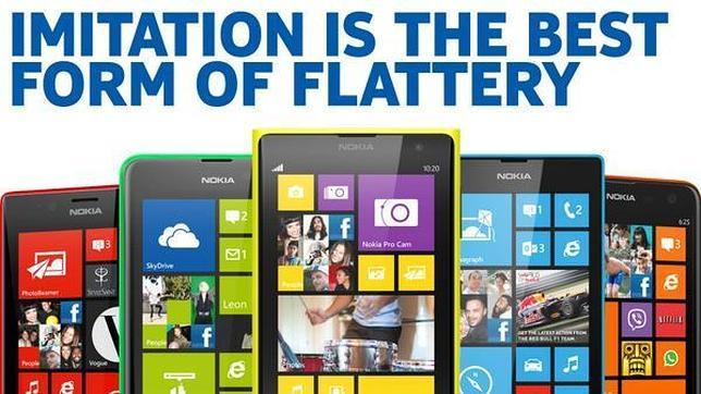 Nokia se burla de Apple por «imitar» al Lumia con su iPhone 5C