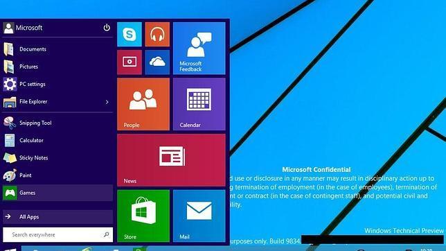 Filtran imágenes de la nueva interfaz de Windows 9