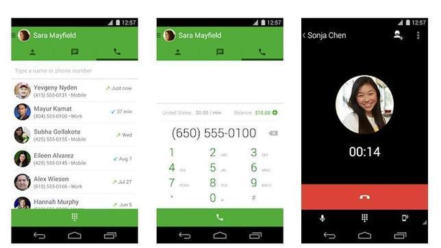 Google Hangouts permite realizar llamadas gratis desde móviles