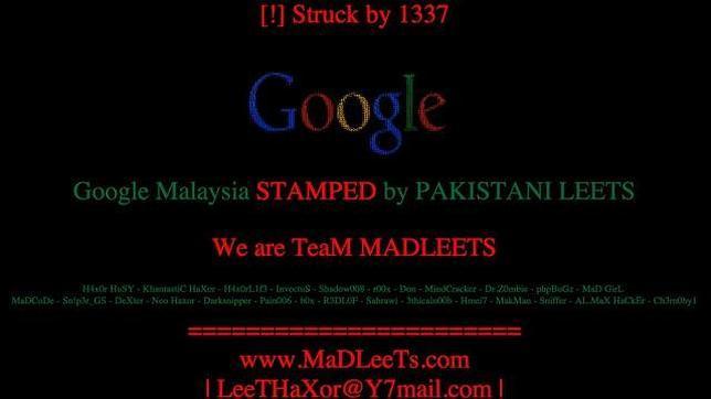 Google, «hackeado» en Malasia