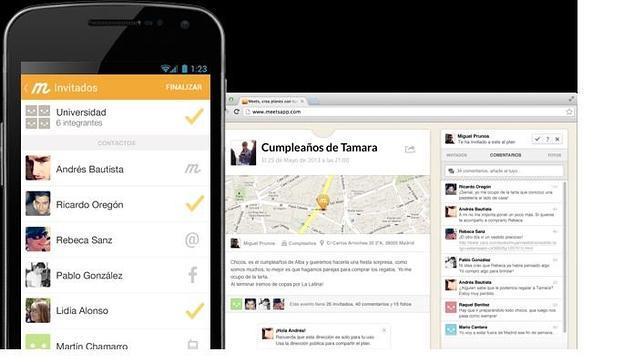 Meets: una «app» para crear planes personalizados