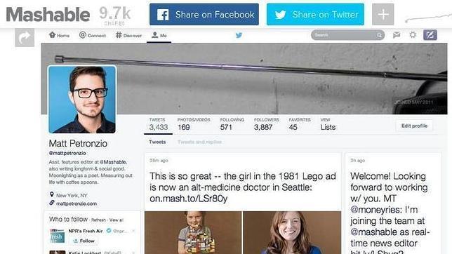 Twitter prueba un rediseño de su interfaz para hacerla más parecida a la de Facebook