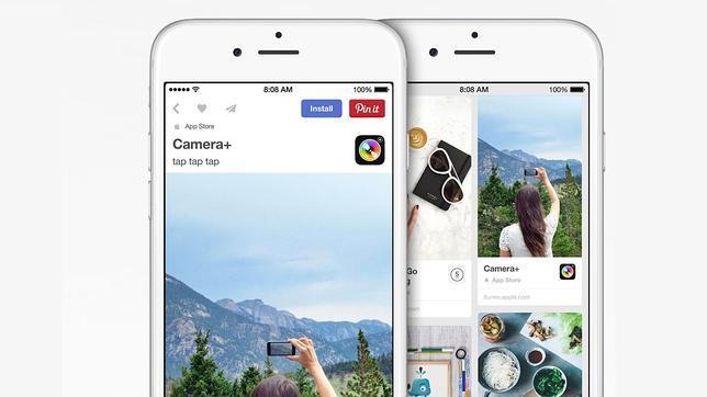 Apple empieza a «vender» aplicaciones a través de Pinterest