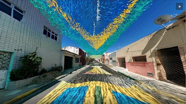 Recorre las calles de Brasil dedicadas al Mundial con Street View