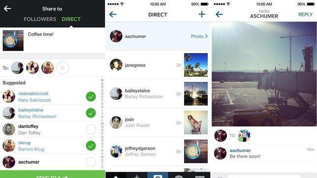 Instagram permite enviar fotografías de forma privada
