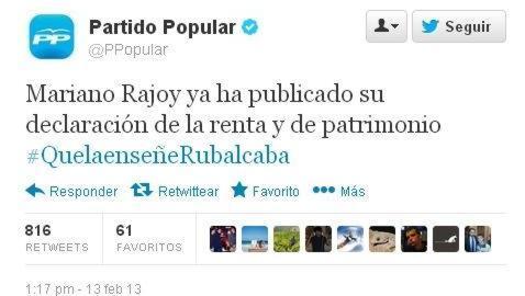 El #quelaenseñeRubalcaba inunda Twitter: entre la transparencia política y la chanza