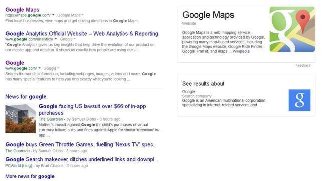Google cambia la apariencia de los resultados de búsquedas