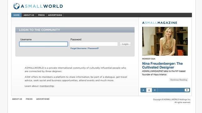 Asmallworld, el «Facebook para millonarios», quiere resucitar con el pago por suscripción