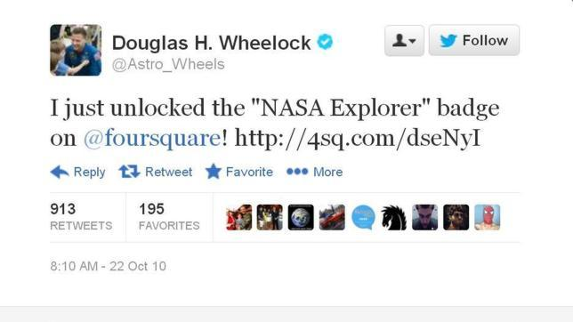 Las primeras publicaciones en redes sociales hechas desde el Espacio