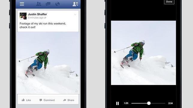 Facebook prueba la reproducción automática de vídeos