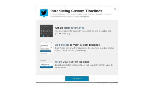 Twitter permite crear «timelines» personalizados