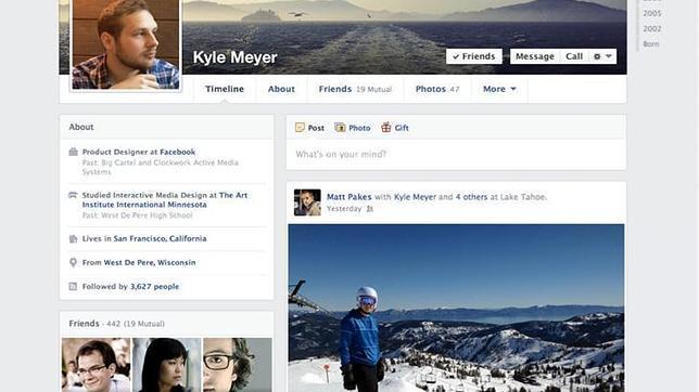 Facebook también rediseña la Biografía