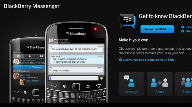 Blackberry ofrecerá su servicio Messenger a iOS y Android