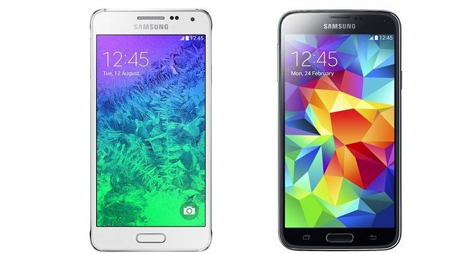 El Galaxy Alpha frente al Galaxy S5